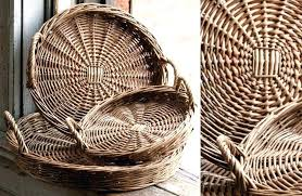 wicker serving trays round willow trays large wicker serving tray with handles