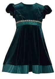 Bonnie Jean Dress Velvet Green Meisjesfeest