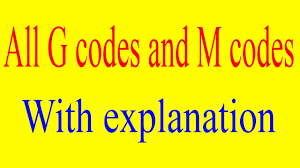 G Code Reference Chart G Codes And M Codes For Cnc Programming Important G Codes Important M Codes G And M Codes