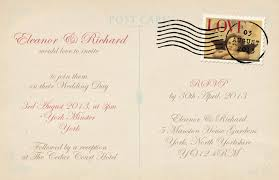 Postcard Wedding Invitations Black W I