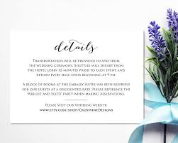 Invitation Information Template Wedding Details Card Insert Wedding Templates And Printables 10