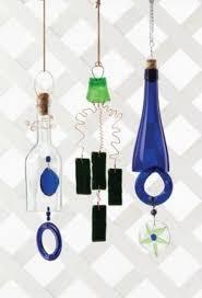 make wine bottle wind chimes