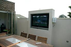 Outdoor cabinet plans how build an tv patio custom cabinets wall