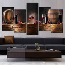 5 panel canvas prints paintings wall art fruit g red wine glass picture art for kitchen bar wall decor unframed canvas painting wall art home decor