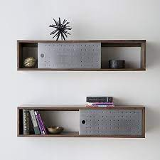 wall mounted bookshelves with doors