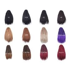 <b>Luxury For Braiding</b> Syntheic Hair Ombre 27/613 Burgundy Brown ...