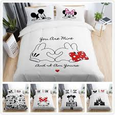 details about 3d disney mickey minnie love kids bedding set duvet quilt doona cover pillowcase