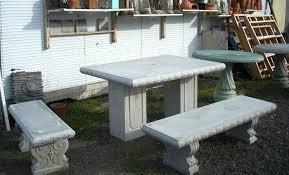 concrete garden bench. Decorative Garden Benches Small Tables And Concrete Bench Portland Best Design Interior