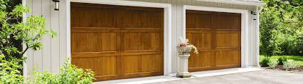custom wood stained finish custom wood garage door 3
