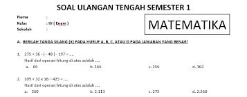 Kunci jawaban soal kelas 3 tema 1 subtema 2 paket a. Soal Uts Matematika Kelas 6 Sd Semester 1 Dan Kunci Jawaban Bimbel Brilian