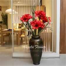 Big Flower Vase Design New Big Flower Vase Large Floor Fashion Set Decoration Pu