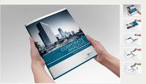 Simple Annual Report Brochure Templates Creative Market 3 Preparing