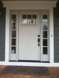 white residential front doors. Modren White Clopay Craftsman Collection Fiberglass Front Door Factorypainted In White  With Clarion Windows Sidelights And Options Dentil Shelf Molding To White Residential Front Doors S