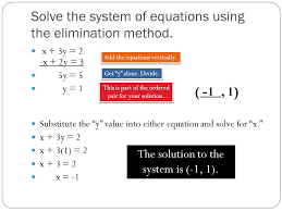 solve the system of equations using the elimination method