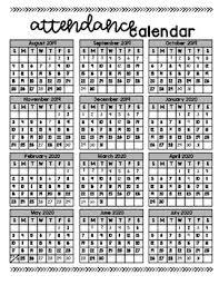 Free Attendance Calendar 2019 Major Magdalene Project Org