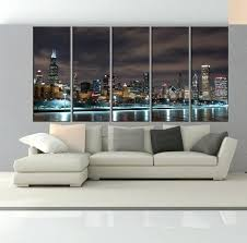chicago skyline wall art canvas extra skyline photo metal wall chicago art glass