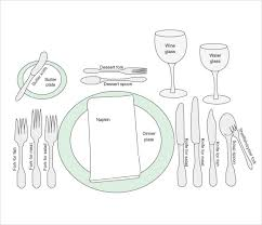 Table Setting Templates Free 7 Sample Place Settings In Psd Vector Eps Pdf Word
