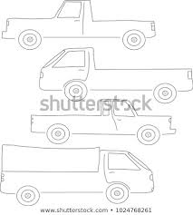 Vector Different Types Pickup Trucks Stock Vector (Royalty Free ...