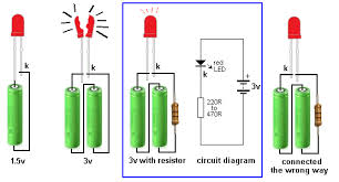 led resistor wiring diagram led image wiring diagram electronics keralam hobby circuits on led resistor wiring diagram