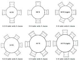 diameter table seats how many 60 round