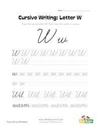Cursive Letter Chart Free Printable Cursive W Suyhi Margarethaydon Com