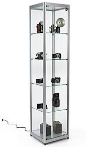 modern styled glass display tower