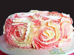 Lemon And Raspberry Rose Cake