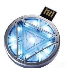 Marvel Iron Man 3 Arc Reactor 8gb Usb Led Light Flash