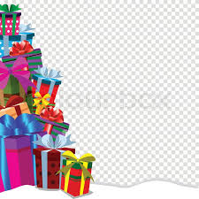 Gifts Background Festive Holiday Background With Gifts Stock Vector