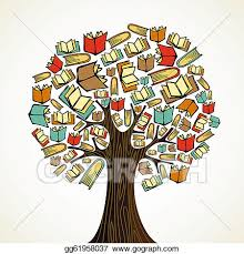 doent grammar control icon education concept tree with books
