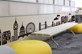 office room wallpaper. aliexpresscom buy black city buildings wall stickers decals man boy wallpaper mural personality room home office salon decor large effect 22036cm from i