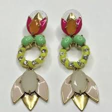 stella and dot tropicana convertible 3 ways chandelier earrings new with box
