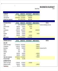small business budget examples 12 business budget templates in excel word pdf free
