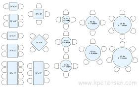 6 person dining table dimensions restaurant table sizes drawing plan view 6 person round dining table