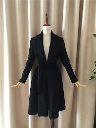 black wool coat winter jacket cashmere coat women winter coat