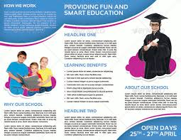 tri fold school brochure template examples of brochures for schools child development school tri fold