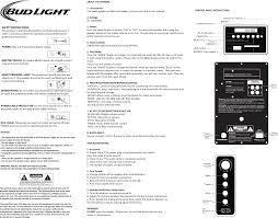 Bud Light Speaker Tower Bud Light Speaker Tower User Manual Manual Impact Machine