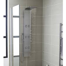 hudson reed astral thermostatic shower panel stainless steel