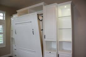 built into wall bed. Antique White, Murphy Wall Beds, Roseville - 3 Day Closets Built Into Bed N