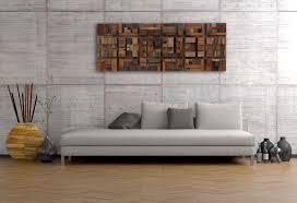 custom made wood wall art of geometric shapes reclaimed barnwood