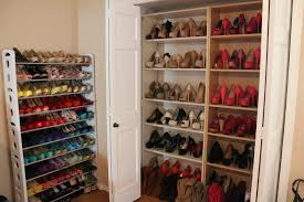... Rack, Hanging Closet Shoe Rack Organizer Design: Appealing Closet Shoe  Rack For Home ...