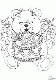Kleurplaat Happy Birthday Kleurplaat