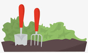 transpa gardening tools clipart