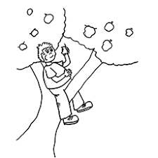 apple tree coloring page. Plain Coloring In Apple Tree Coloring Page T