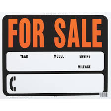 auto for sale sign hy ko auto for sale sign sp 112 dressels hardware