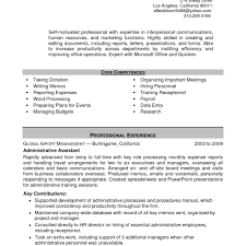 Template For Administrative Assistant Resume Template For Administrative Assistant Resume Fred Resumes 1