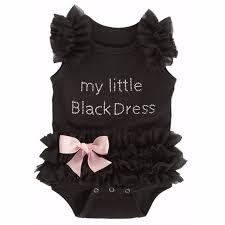 Новорожденная <b>Маленькая Девочка</b> Черная Ромпер ...