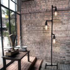 in floor lighting fixtures. Antique Industrial Steampunk Floor Lamp Vintage 3 Cage Pipe Light In Floor Lighting Fixtures