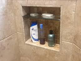 built in soap niche