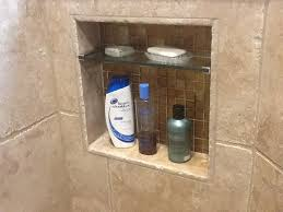 built in soap niche